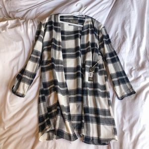 Natural collections plaid cardigan